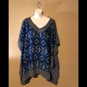 Lane Bryant shawl top size 18/20 polyester